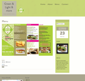 Menu Page of Green Light